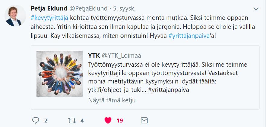 huomenta suomi petja eklund