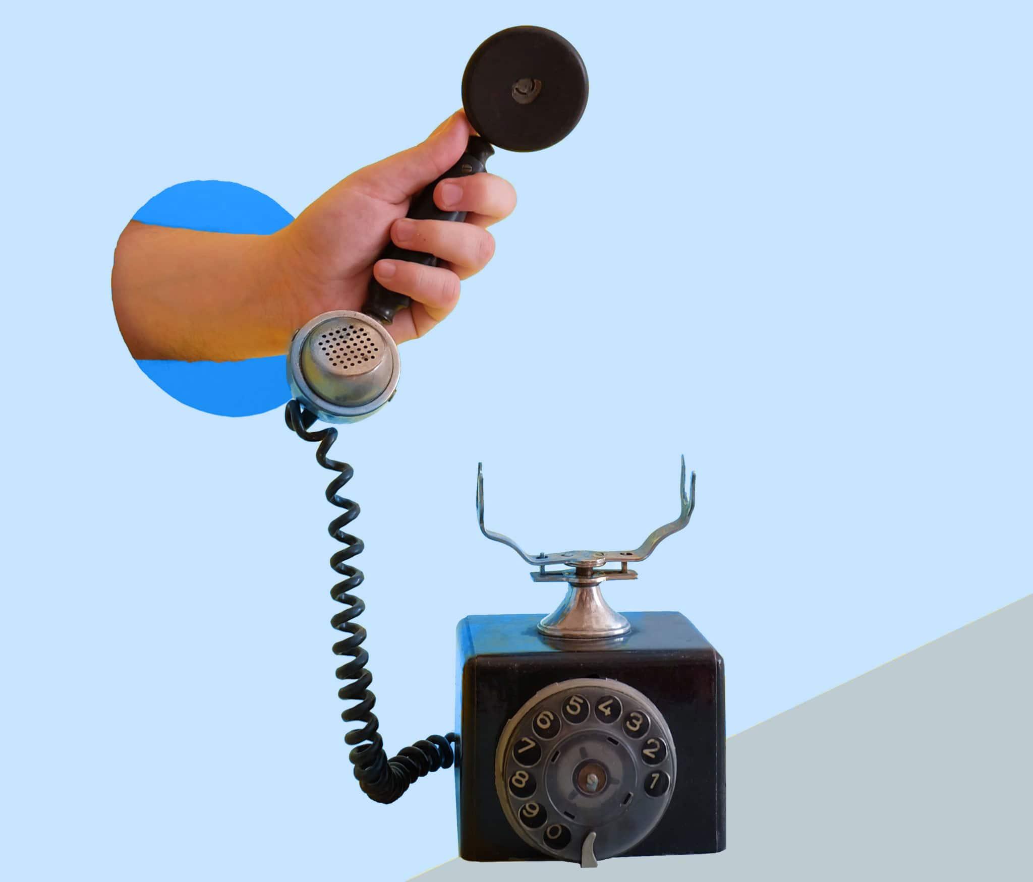 markkinointi - kuvituskuva -puhelin