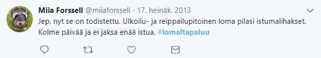 Lomaltapaluu-twiitti6