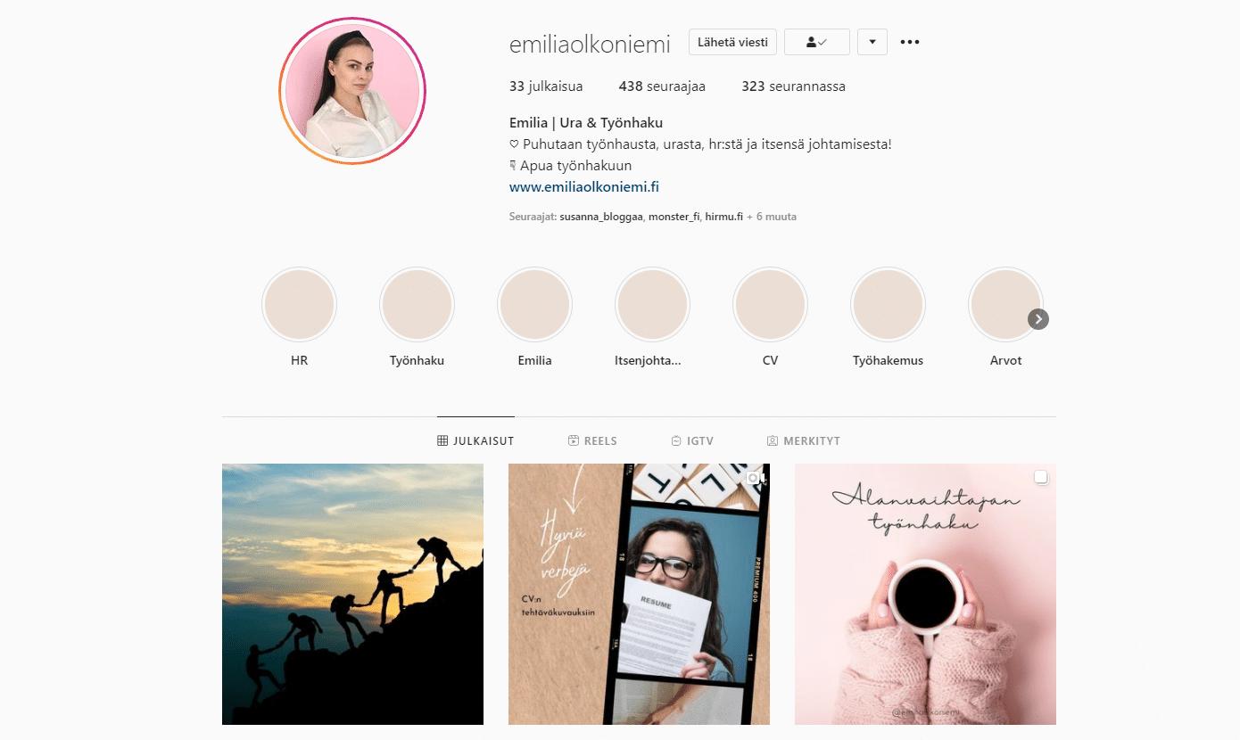 Emilian Instagram-tili