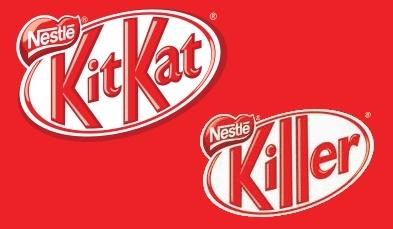 Kitkatin muokattu logo